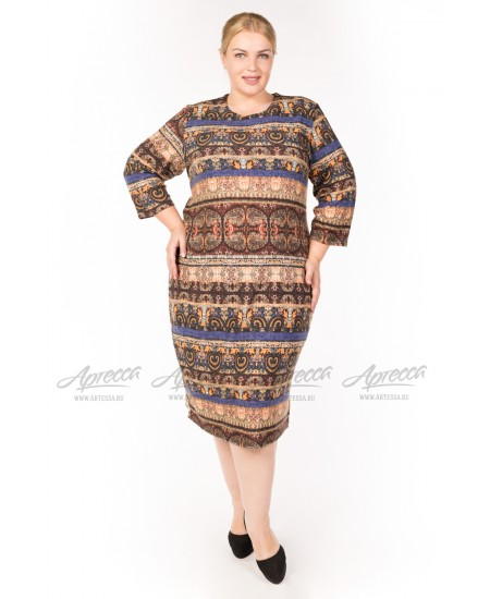 Платье PP02306GRN52 цвет коричневый