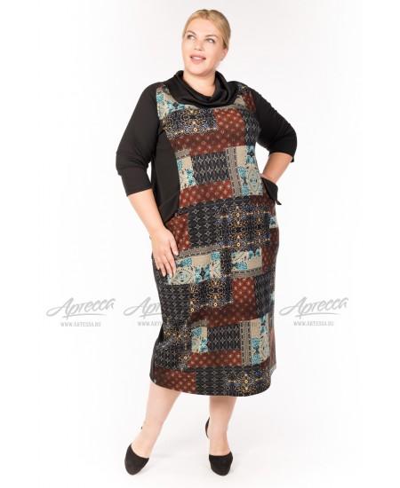 Платье PP15106BLK34 цвет коричневый