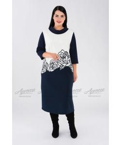 Платье PP16006DBL02 цвет синий