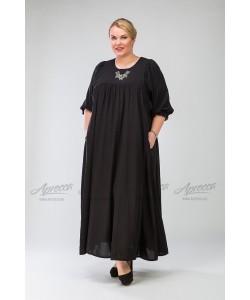 Платье PP209 04 BLK  цвет черный