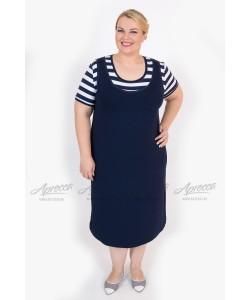 Платье  PP21603BLK59 цвет  синий