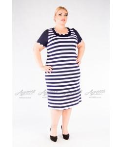 Платье  PP21503STR05 цвет полоска синий