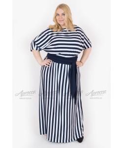 Платье PP202 03 STR BL цвет полоска синий