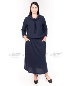 Платье PP27406DBL00 цвет синий