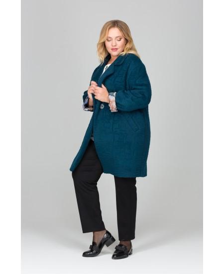 """Пальто """"Сеймур"""" цвет бирюзовый"""