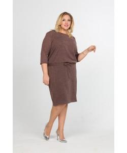 """Платье """"Ренея"""" цвет коричневый"""