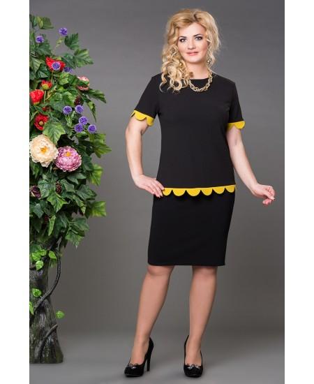 """Блуза  """"Бритни"""" цвет черно-желтый"""