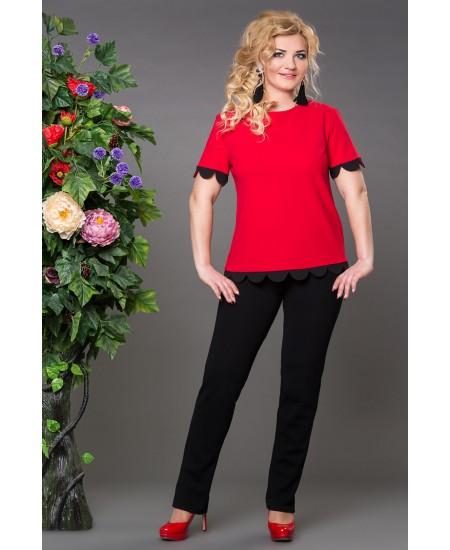 """Блуза  """"Бритни"""" цвет красный"""