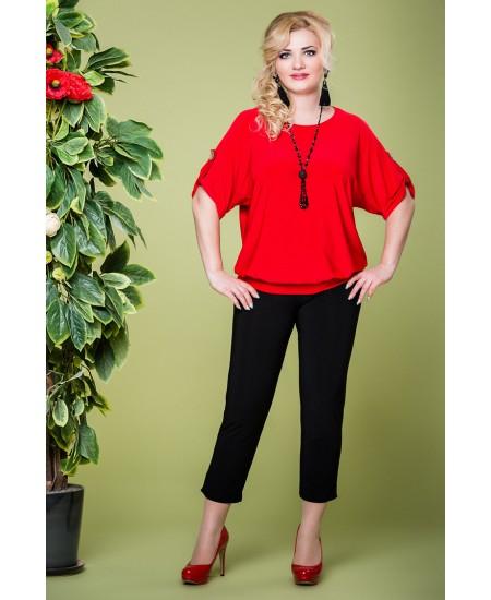 """Блуза """"Кристина"""" цвет красный"""