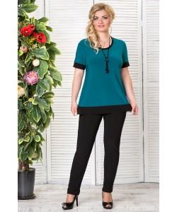 """Блуза """"Ника"""" цвет зеленый"""