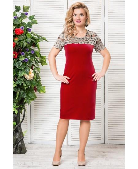 """Платье """"Катрин""""  цвет красный"""