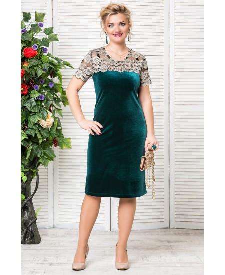 """Платье """"Катрин""""  цвет зеленый"""