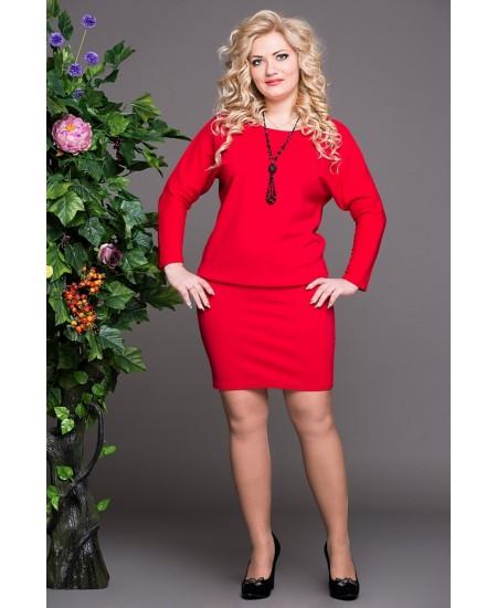 """Платье """"Мадонна""""  цвет красный"""