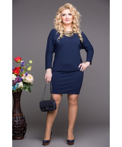 "Платье ""Мадонна""  цвет синий"