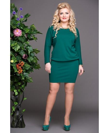 """Платье """"Мадонна""""  цвет зеленый"""