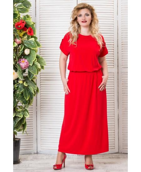 """Платье """"Прованс""""  цвет  красный"""
