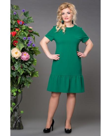 """Платье """"Рыбка """" цвет  зеленый"""