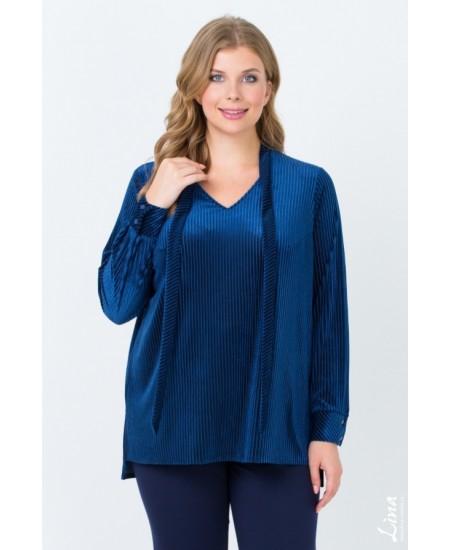"""Блуза  """"Андриана"""" цвет синий"""