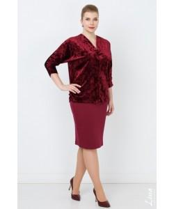"""Блуза """"Азалия"""" цвет бордо"""
