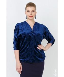 """Блуза """"Азалия"""" цвет синий"""