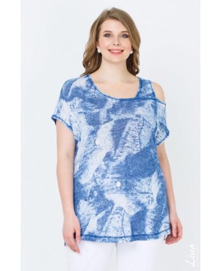 "Блуза ""Бали"" цвет голубой"
