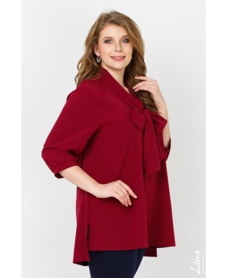 """Блуза  """"Бант"""" цвет бордо"""