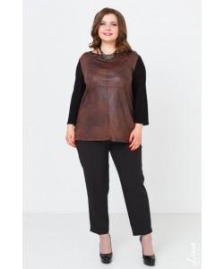 """Блуза """"Беверли-2"""" цвет коричневый"""