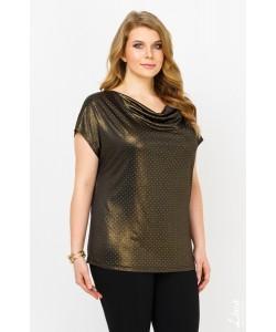 """Блуза """"Дольче"""" цвет черное золото"""
