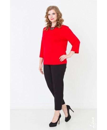 """Блуза  """"Лаура"""" цвет красный"""