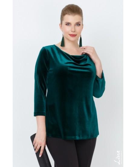 """Блуза """"Лейсан"""" цвет зеленый"""