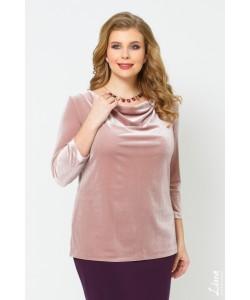 """Блуза """"Лейсан"""" цвет пудровый"""