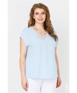"Блуза  ""Юта"" цвет голубой"