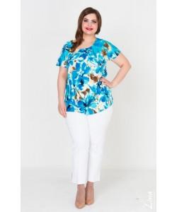 """Блуза  """"Вдохновение"""" цвет голубой"""