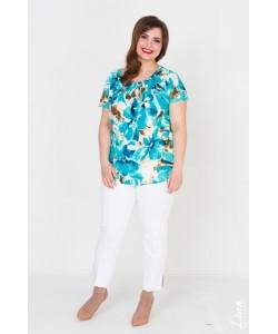 """Блуза  """"Вдохновение"""" цвет бирюза"""