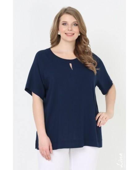 """Блуза """"Яна"""" цвет синий темный"""