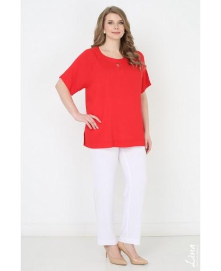 """Блуза """"Яна"""" цвет красный"""