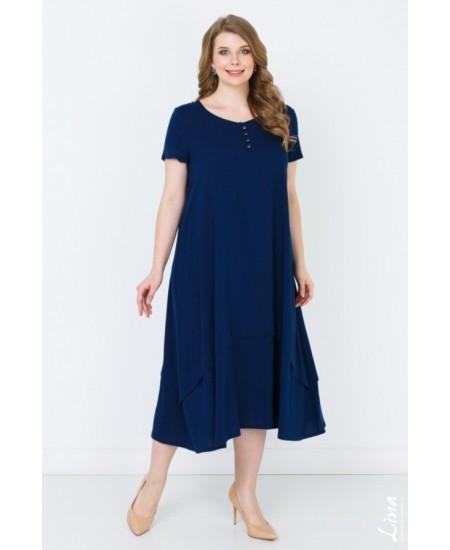 """Платье """"Джоли"""" цвет синий темный"""