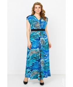 """Платье """"Аризона"""" цвет синий"""