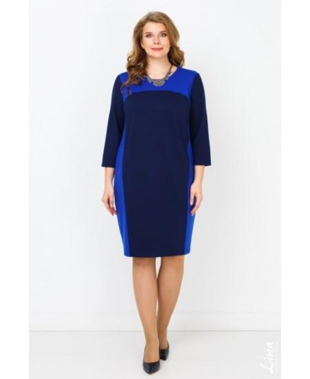 """Платье """"Дуэт"""" цвет синий василек"""