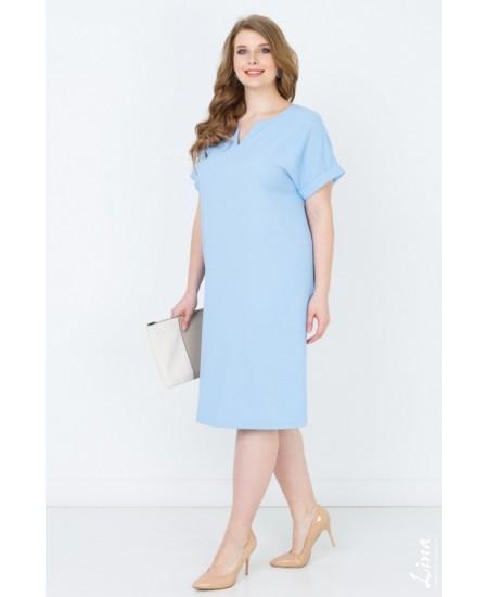 """Платье """"Глэдис"""" цвет голубой"""