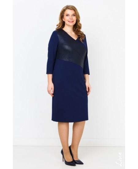 """Платье """"Клэр"""" цвет синий темный"""