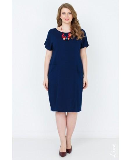 """Платье """"Ницца"""" цвет синий темный"""