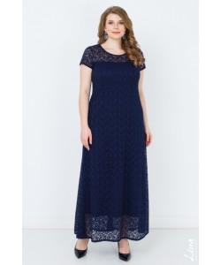 """Платье """"Виолетта-2"""" цвет синий темный"""