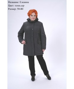 Куртка зимняя Елеанна темно серый