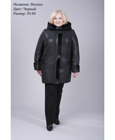 Куртка зимняя Вилена черная