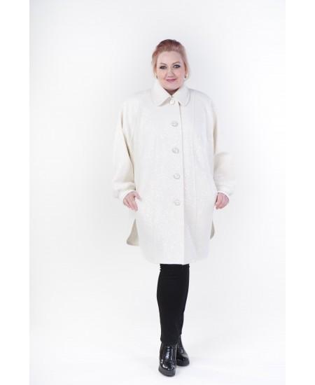 """Демисезонное пальто """"Одри"""" цвет белый"""