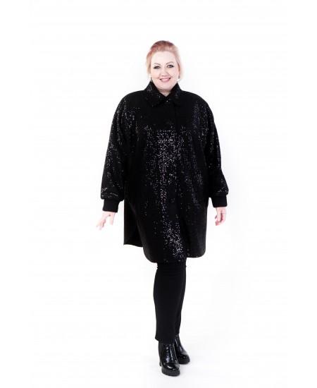 """Демисезонное пальто """"Одри"""" цвет черный"""