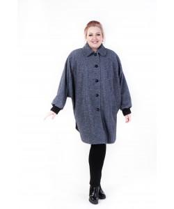 """Демисезонное пальто """"Одри"""" цвет серый 1"""