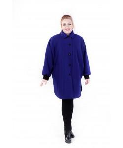 """Демисезонное пальто """"Одри"""" цвет васильковый 1"""