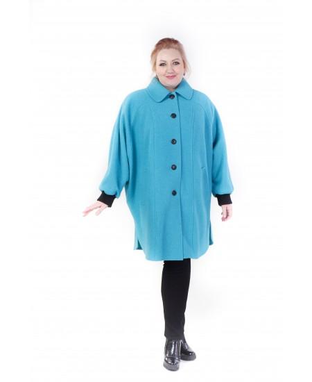 """Демисезонное пальто """"Одри"""" цвет бирюзовый"""